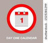 vector calendar date   day one  ... | Shutterstock .eps vector #1525281299