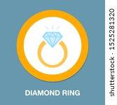 vector diamond ring   wedding...   Shutterstock .eps vector #1525281320