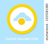 success icon   coins with... | Shutterstock .eps vector #1525281380