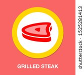 barbecue icon   grilled bbq... | Shutterstock .eps vector #1525281413