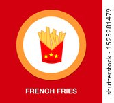vector french fries box... | Shutterstock .eps vector #1525281479