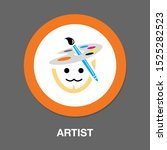 vector painter artist...   Shutterstock .eps vector #1525282523