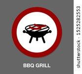 vector bbq grill illustration   ...   Shutterstock .eps vector #1525282553
