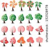 set of cartoon trees   vector | Shutterstock .eps vector #152528978