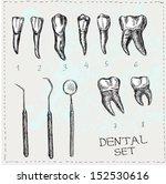 Dental Set In Vector. Teeth And ...