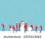 christmas celebration and make... | Shutterstock .eps vector #1525313063