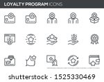 loyalty program vector line... | Shutterstock .eps vector #1525330469
