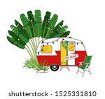 christmas camper with... | Shutterstock .eps vector #1525331810