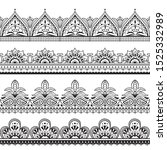 mehndi indian design. henna... | Shutterstock . vector #1525332989