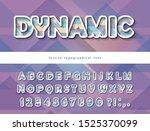 modern dynamic font. cut out... | Shutterstock .eps vector #1525370099