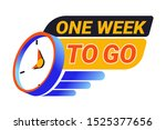 one week to go countdown to the ... | Shutterstock .eps vector #1525377656