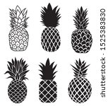 set of pineapples.collection... | Shutterstock .eps vector #1525383830