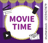 vector set stage and movie time ...   Shutterstock .eps vector #1525427879
