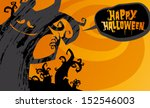 happy halloween background ... | Shutterstock .eps vector #152546003