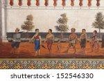 murals at wat phra kaew. | Shutterstock . vector #152546330