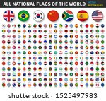 all national flags of the world ... | Shutterstock .eps vector #1525497983