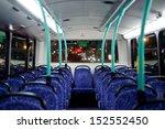 British Bus Interior  Rows Of...