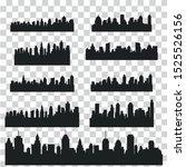 big set modern city skyline... | Shutterstock .eps vector #1525526156