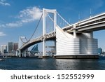 Rainbow Bridge In Odaiba  Tokyo