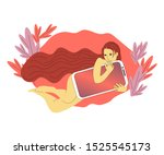 beautiful hand drawn flat style ... | Shutterstock . vector #1525545173