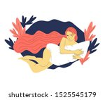 beautiful hand drawn flat style ... | Shutterstock . vector #1525545179