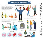 effect of alcohol abuse... | Shutterstock .eps vector #1525551566