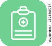 medical report icon isolated on ... | Shutterstock . vector #1525565759