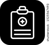 medical report icon isolated on ... | Shutterstock . vector #1525567493