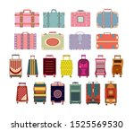 travel suitcase set isolated on ... | Shutterstock .eps vector #1525569530