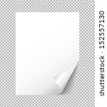 sheet of white paper with a... | Shutterstock .eps vector #152557130