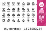 3d visualization icon set with... | Shutterstock .eps vector #1525603289