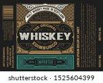 whiskey label vintage design... | Shutterstock .eps vector #1525604399