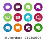 message bubble circle icons on... | Shutterstock . vector #152560979