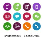 phone circle icons on white... | Shutterstock . vector #152560988