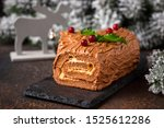 Christmas Yule Log Cake....