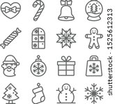 christmas icons set vector... | Shutterstock .eps vector #1525612313