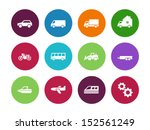 cars and transport circle icons ...
