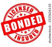 licensed bonded insured round... | Shutterstock .eps vector #1525626110