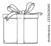 vector sketch gift box with...   Shutterstock .eps vector #1525628360