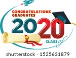 congratulations graduates card. ... | Shutterstock .eps vector #1525631879