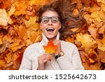 Funny Young Hipster Woman In A...