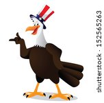 cartoon bald eagle points at... | Shutterstock .eps vector #152565263