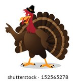 cartoon turkey points at your... | Shutterstock .eps vector #152565278
