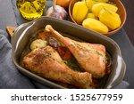 Dinner  Roasted Turkey Legs...