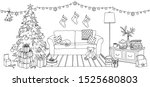 hand drawn illustration of a... | Shutterstock .eps vector #1525680803