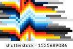 glitch error vhs vector phrase... | Shutterstock .eps vector #1525689086