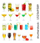 lot of different cocktails and... | Shutterstock . vector #152569589
