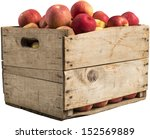 Crate Full Of Apples Isolated...