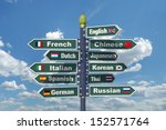 languages signpost including... | Shutterstock . vector #152571764