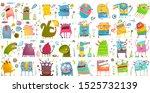 monster character cartoon funny ... | Shutterstock .eps vector #1525732139